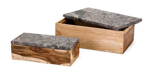 Napoleon Wood Boxes - Set of 2