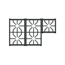 """36"""" Professional Gas Cooktop Grate Set"""
