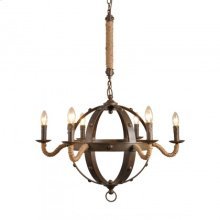 CHANDELIER iron frame +rope W30*H23