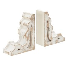 Wooden Corbel Bookends