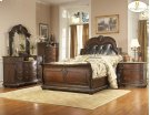 Queen Bed with Bi-cast Leather Heaboard Product Image