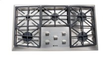 "Stainless Steel 36"" Gas 5 - Burner Front Control"