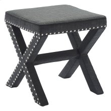 Zeno Single Ottoman in Charcoal