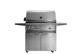 "36"" Freestanding All Trident Grill w/ Flametrak and Rotisserie LP"