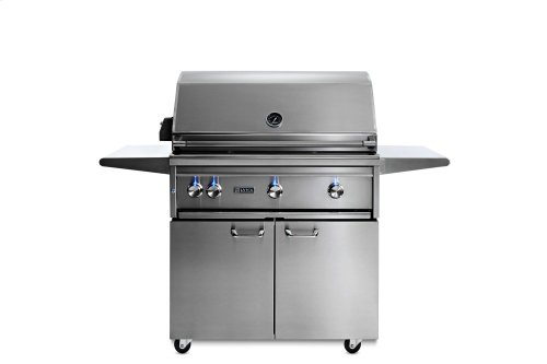 """36"""" Freestanding All Trident Grill w/ Flametrak and Rotisserie NG"""
