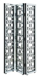 3-Panel Room Divider Screen 72 in. x 48 in. in Silver paint Product Image