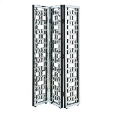 3-Panel Room Divider Screen 72 in. x 48 in. in Silver paint