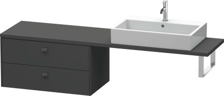Brioso Low Cabinet For Console Compact, Graphite Matt (decor)