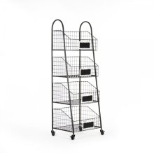Rafael Basket Storage Cart