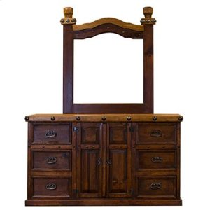 "Dresser : 65"" x 21"" x 37"" Don Carlos Dresser and Mirror"