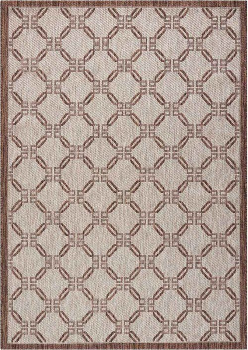 Country Side Ctr02 Natural Rectangle Rug 5'3'' X 7'3''