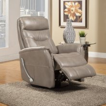 Gemini Linen Manual Swivel Glider Recliner