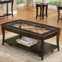 Annandale - Rectangular Coffee Table - Dark Mahogany Finish