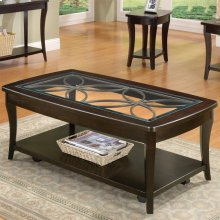 Annandale - Rectangular Coffee Table - Dark Mahogany Finish