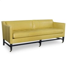 Leather Sofa with Buttons