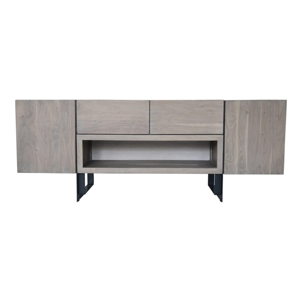 Tiburon Media Cabinet Pale Grey