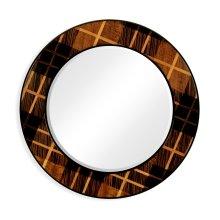 "28"" Hand Inlaid Tartan Porthole Mirror"
