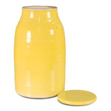 Yellow Ceramic Milk Jar, Medium