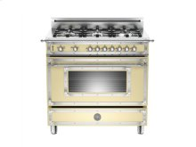 Matt-cream 36 6-Burner, Gas Oven