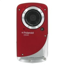 Polaroid Waterproof 720p High Definition Pocket Digital Video Camcorder with 2-Inch LCD Display, iD640-RED