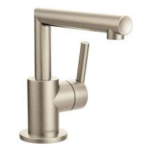 Arris brushed nickel one-handle bathroom faucet