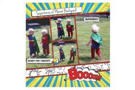 Canon Limited Edition - PIXMA Comix Hero Album Superheros Double Page Layout