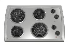30-inch Electric Cooktop with Stainless Steel Surface