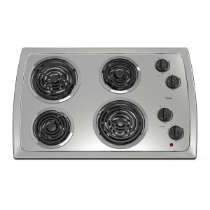 Whirlpool30-Inch Electric Cooktop With Stainless Steel Surface