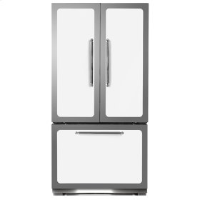 White Classic French Door Refrigerator