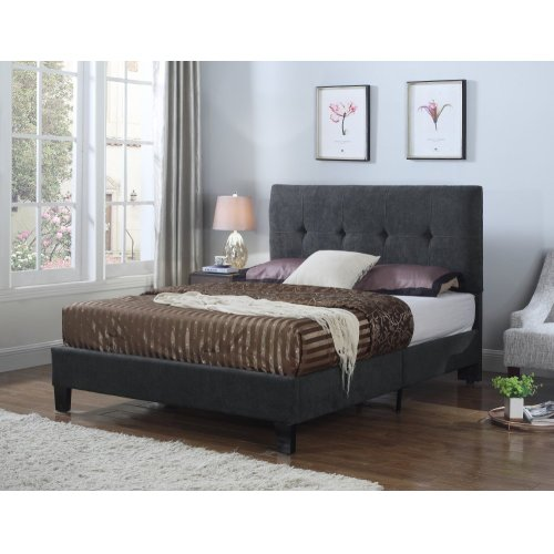 Emerald Home Harper Upholstered Bed Kit Queen Charcoal B129-10hbfbr-13