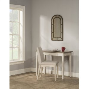 Hillsdale FurnitureClarion Desk - Distressed Gray Top With Sea White Base