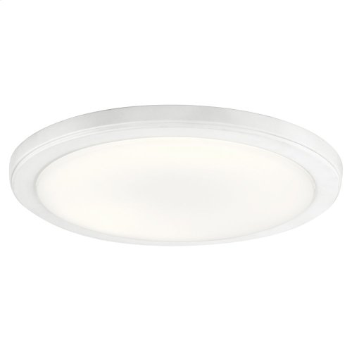 Zeo Collection Zeo 4000K LED 13 Inch round Flushmount WH