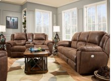 Pandora Double Reclining Console Loveseat with Power Headrest