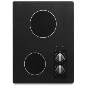 "KITCHENAID15"" Electric Cooktop with 2 Radiant Elements - Black"