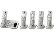 Link2Cell Bluetooth® Cordless Phone with Large Keypad - 5 Handsets - KX-TGE275S