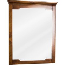 """28"""" x 34"""" Beveled glass mirror with Chocolate Brown finish."""