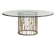 Rendezvous Round Dining Table With Glass Top