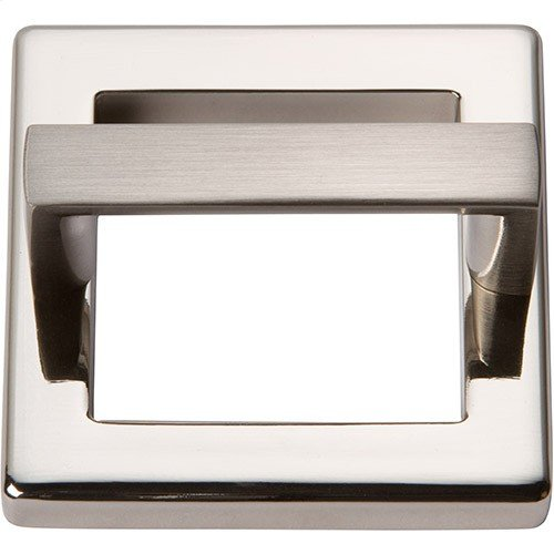 Tableau Square Base and Top 1 13/16 Inch - Brushed Nickel
