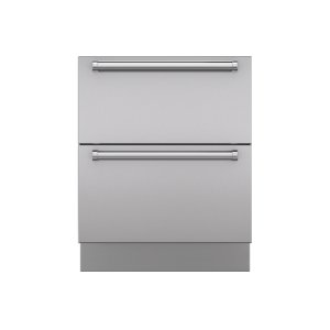 "SubzeroIntegrated Stainless Steel 27"" Drawer Panels with Pro Handles"