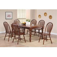 DLU-SLT4272-820-CT7PC  Andrews 7 Piece Extendable Dining Set  Arrowback Chairs