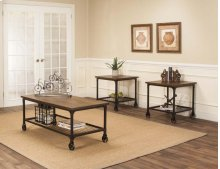 W3075-90  Craft Rustic Elm 3pk Tables