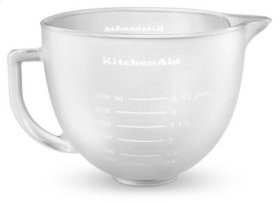 5-Qt. Tilt-Head Frosted Glass Bowl with Measurement Markings & Lid - Other
