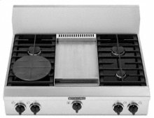 "4 Burners Griddle Porcelain-on-Steel Cooktop Architect® Series Gas 36"" Width"