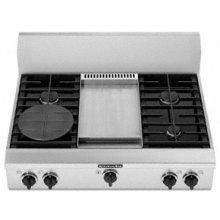 "4 Burners Griddle Porcelain-on-Steel Cooktop Architect® Series Gas 36"" Width"