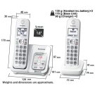 KX-TGD593 Cordless Phones Product Image