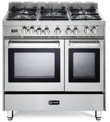 "Stainless Steel 36"" Dual Fuel Double Oven Range - 'N' Series"