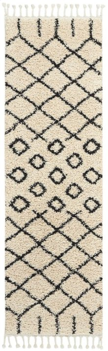 Moroccan Shag Mrs01 Cream Runner 2'2'' X 8'1''