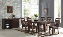 Trestle Dining Table w/ 2 Leaves
