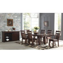 Dining Table, Four Side Chairs and Bench