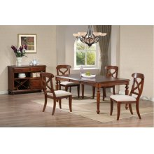 DLU-ADW4276-C12-SRCT6PC  6 Piece Andrews Butterfly Leaf Dining Set with Server